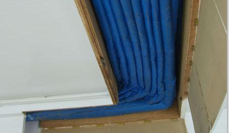 折叠提升式防火卷帘门图片